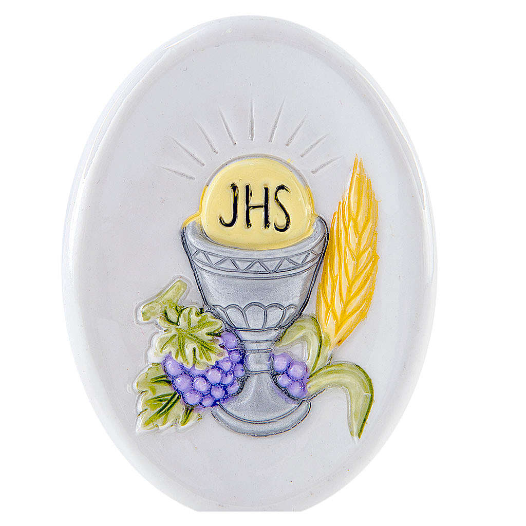 Painting Chalice oval shaped 8cm 3