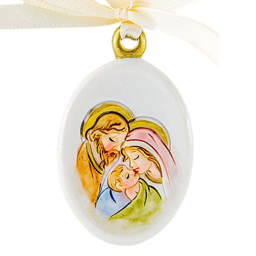 Bomboniera Matrimonio da appendere S. Famiglia 6 cm 3