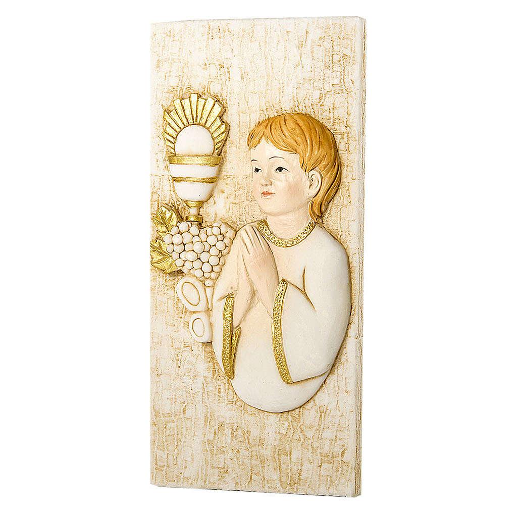 Small painting Boy First Communion rectangular shaped 5x10cm 3