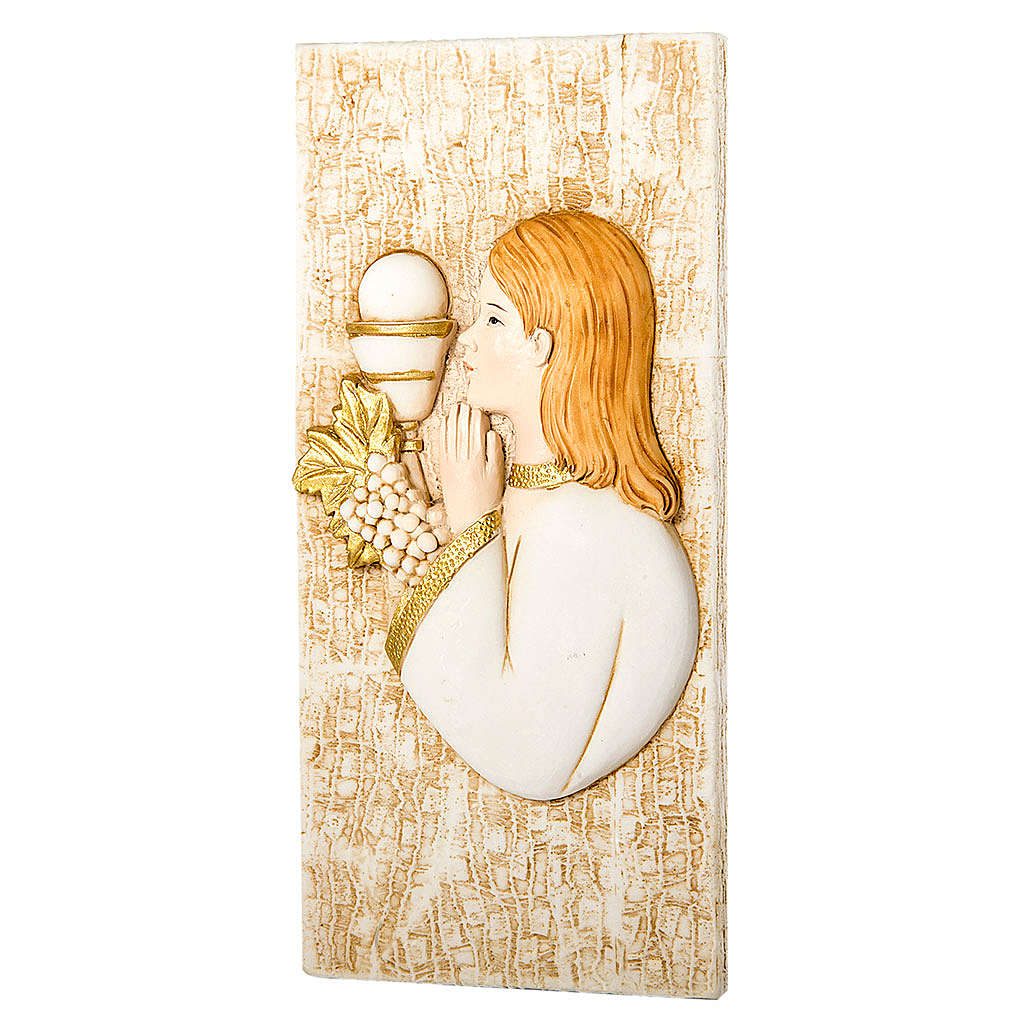 Small painting Girl First Communion 7x15cm 3