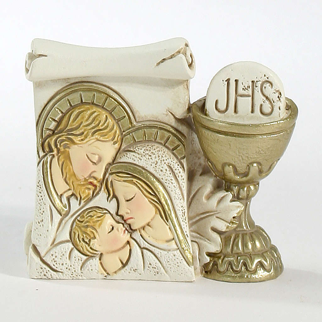 Parchment Chalice Holy Family 6x5,5cm 3
