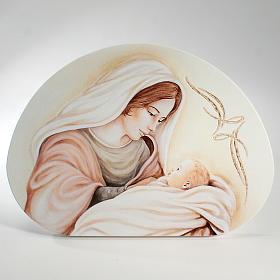 Ricordino Nascita Quadretto Semiovale Maternità 21x30 cm s1