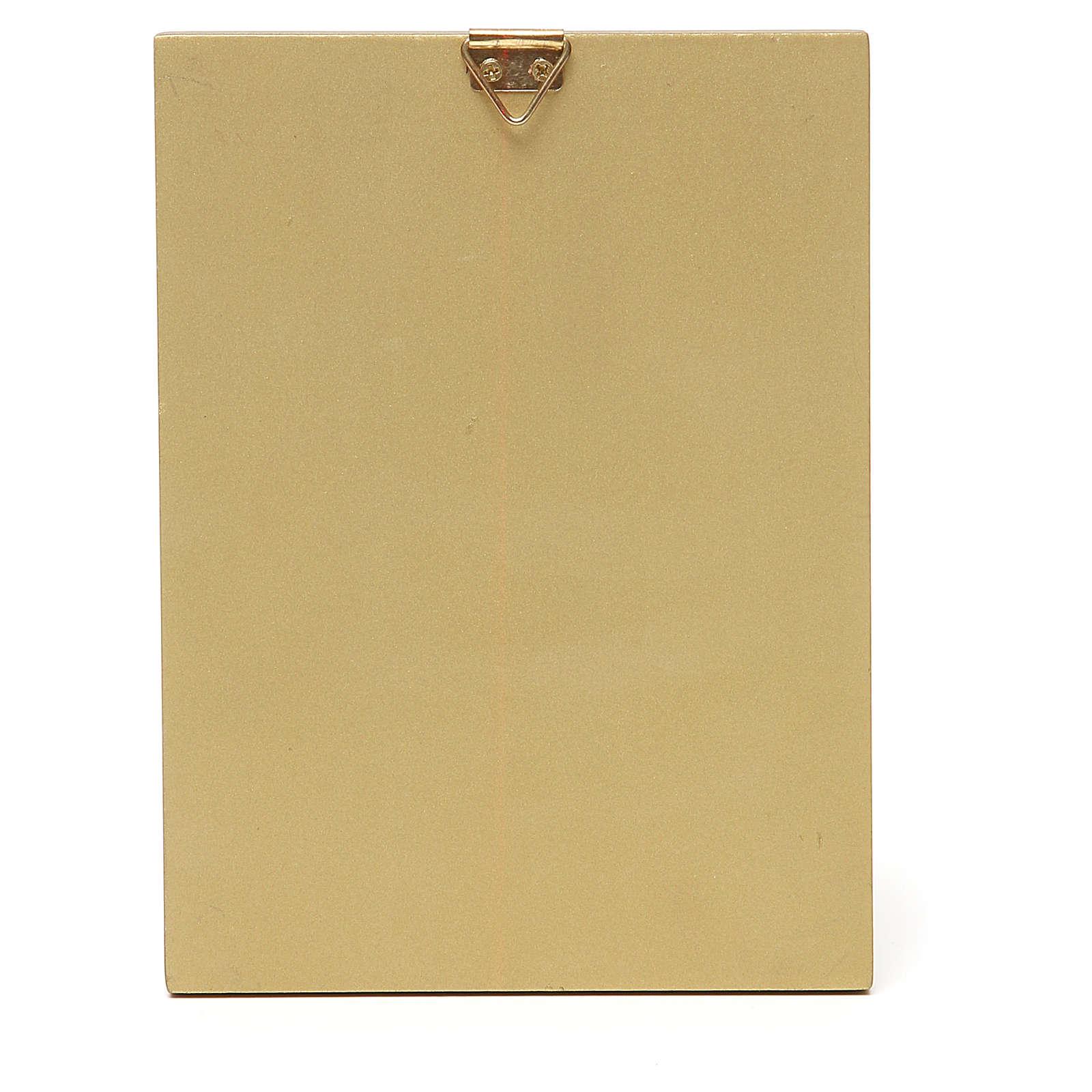 STOCK Quadretto Madonna Tenerezza bordo oro 14x11 cm 3