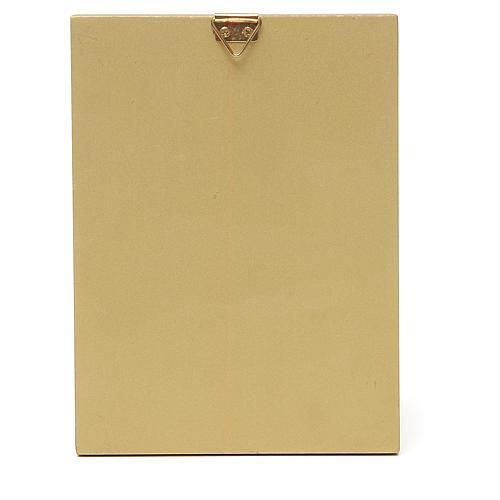 STOCK Quadretto Madonna Tenerezza bordo oro 14x11 cm 2