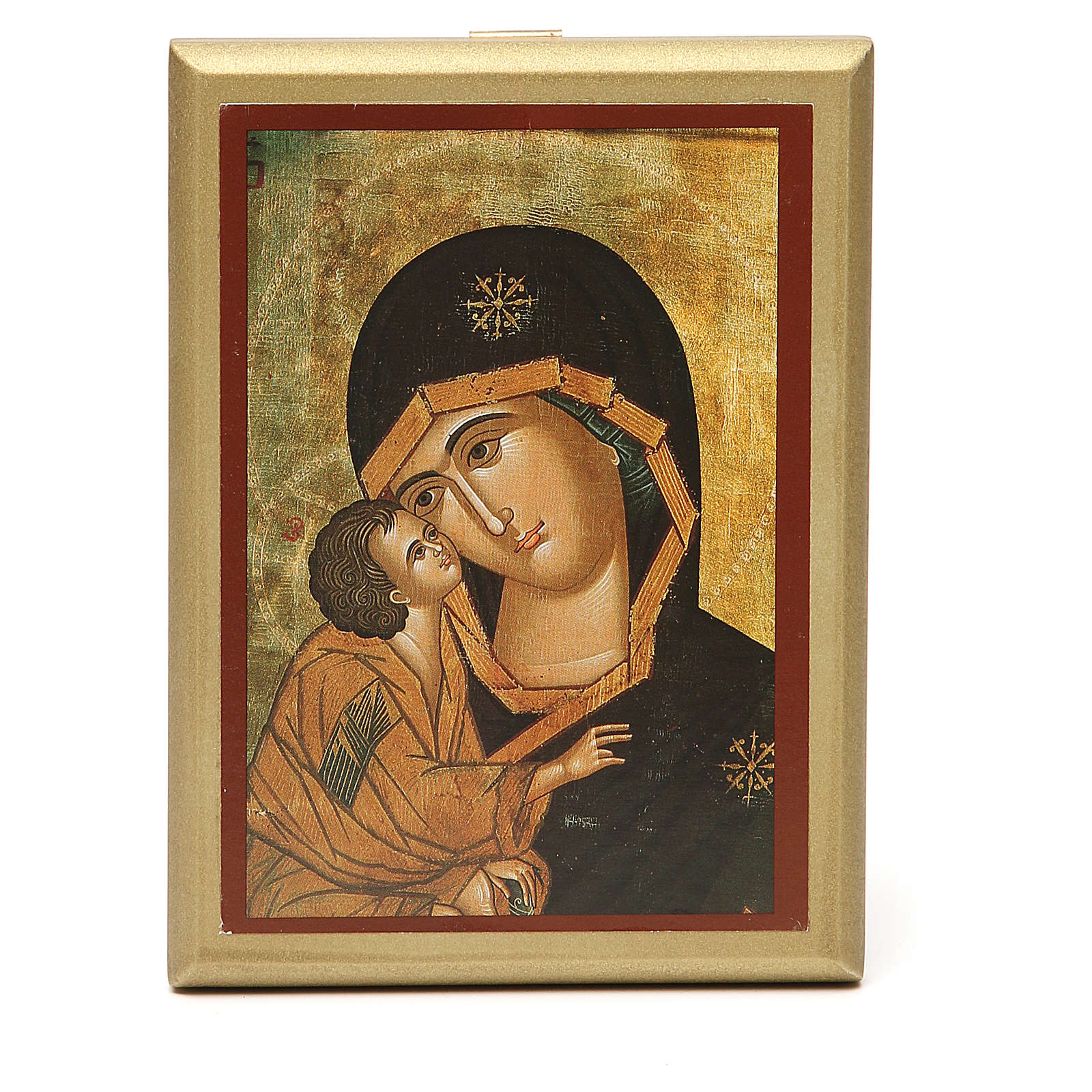 STOCK Small painting Our Lady of Vladimir golden border 14x11cm 3