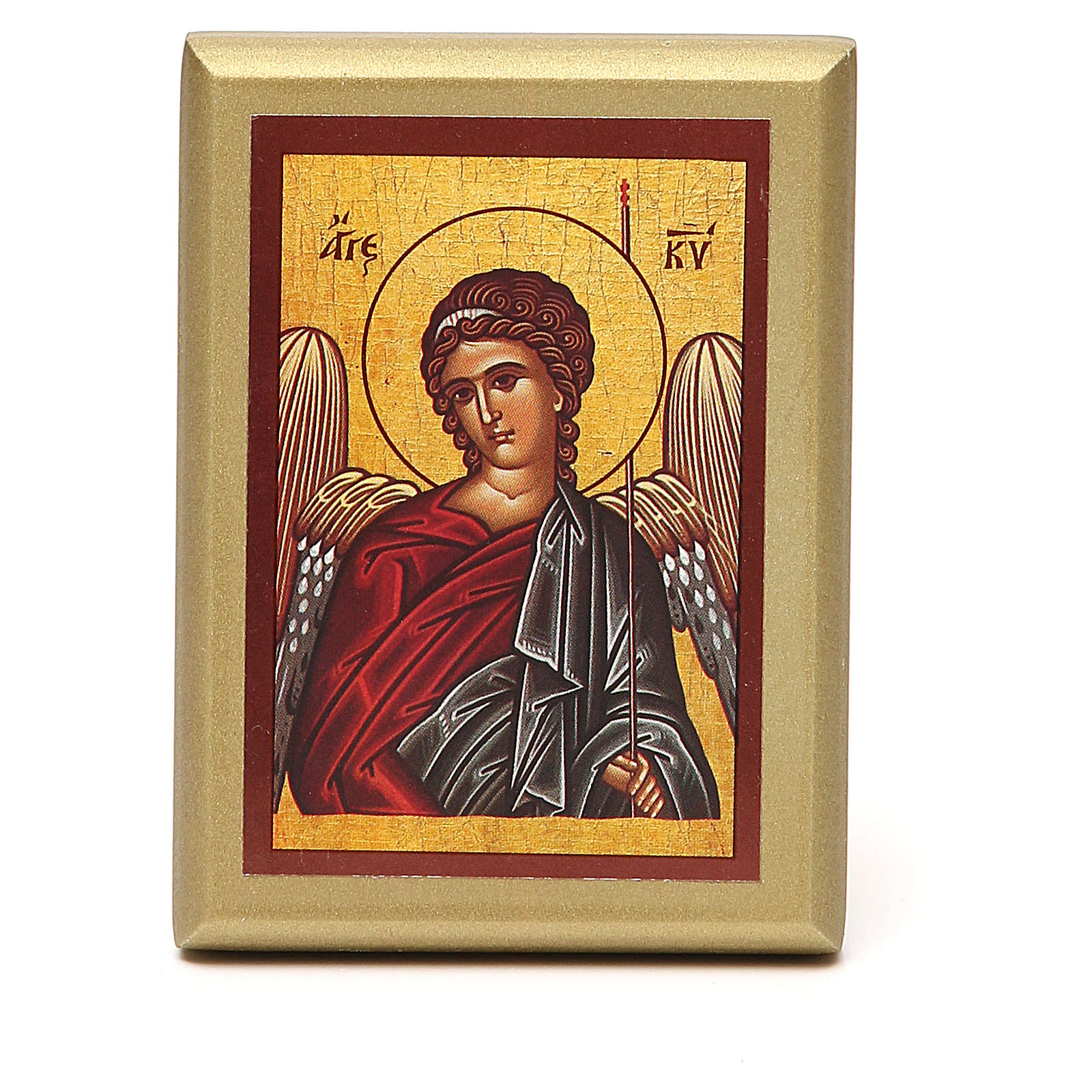 STOCK Small painting Angel golden border 10x6,5cm 3