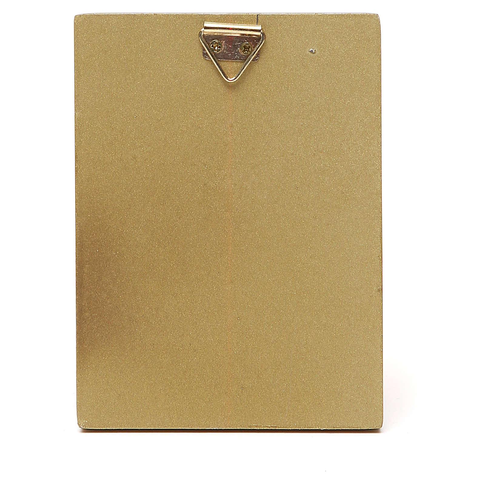 STOCK Cuadrito madera Ángel borde oro 10x6,5 cm 3