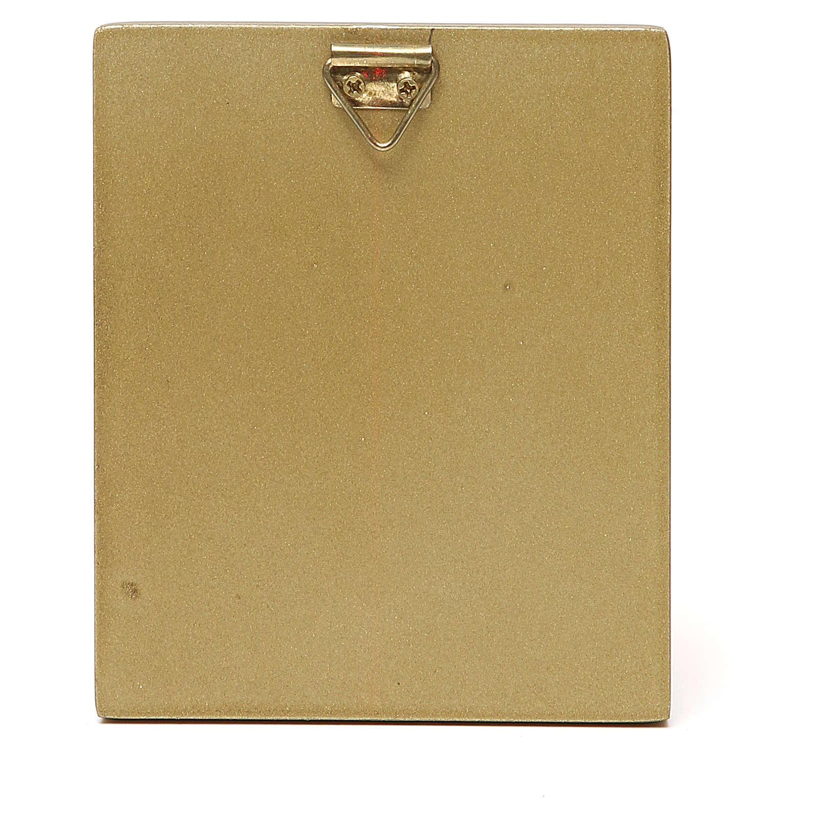 STOCK Matka Boska czerwone ubranie złota oprawka 10x6,5 3