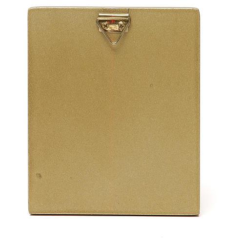 STOCK Matka Boska czerwone ubranie złota oprawka 10x6,5 2