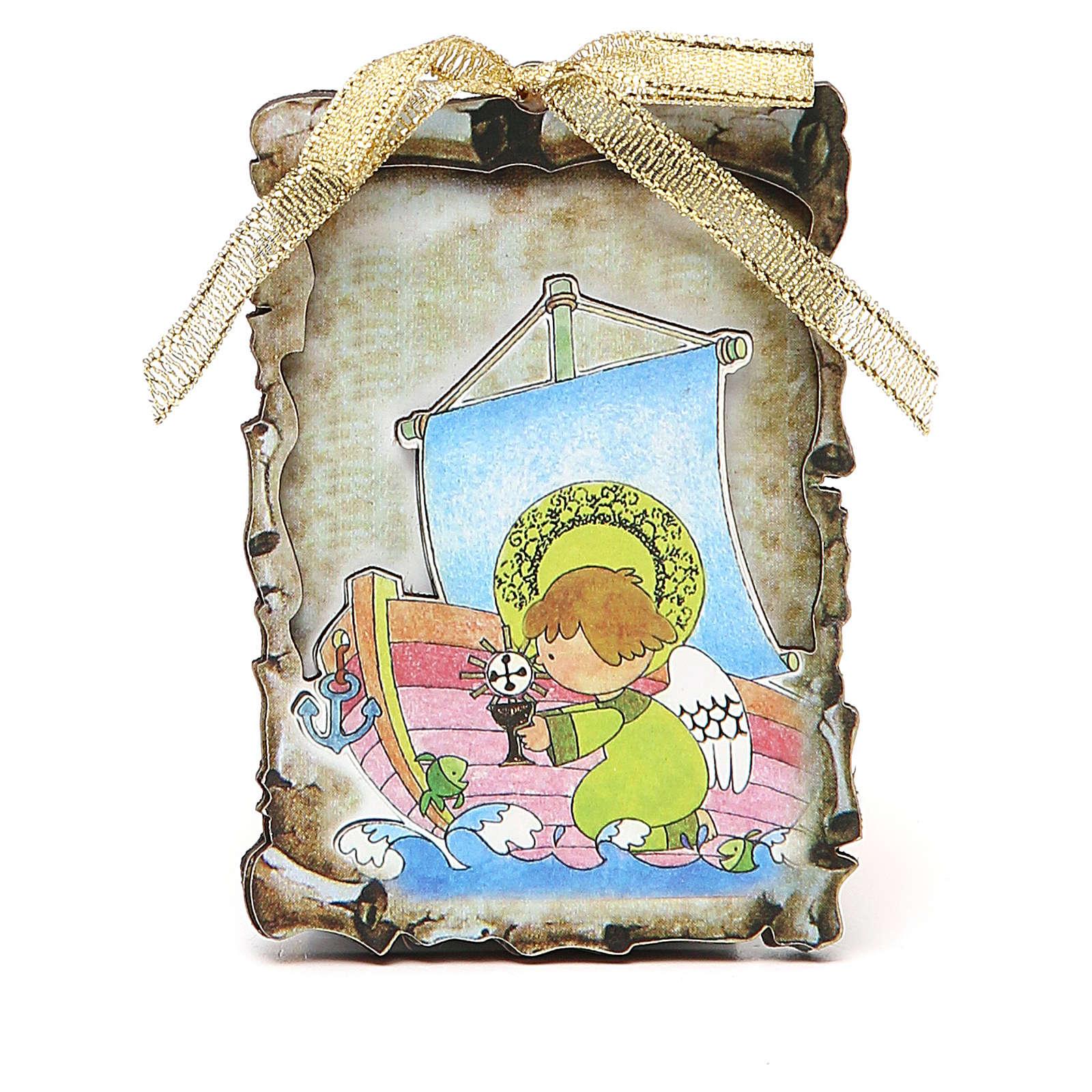 STOCK Tablette parchemin aimant 9,5x6,8 cm Communion 3
