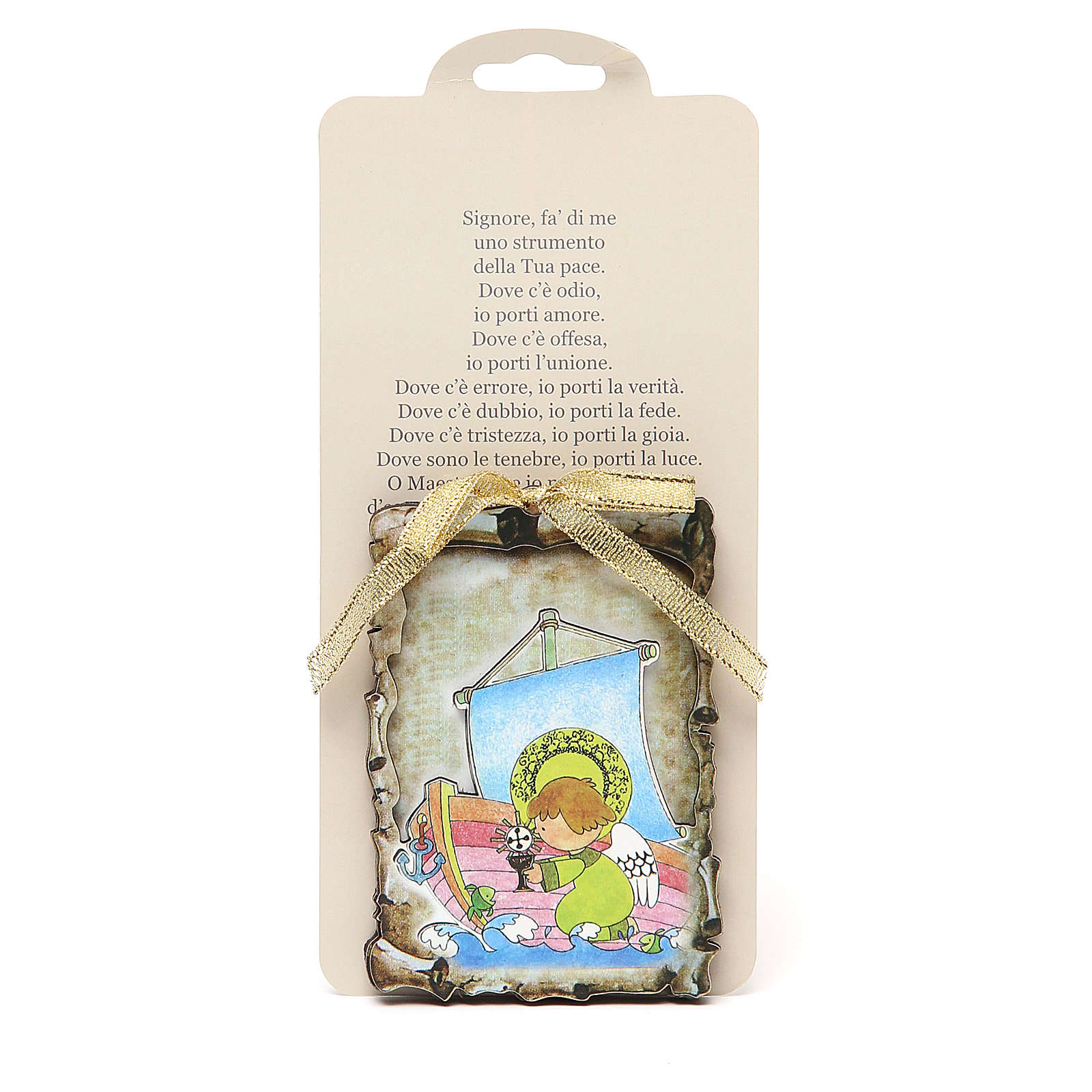 STOCK Small magnet wooden board 9,5x6,8 Communion 3