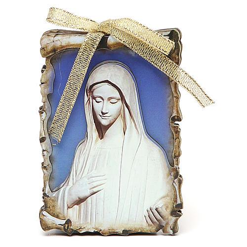STOCK Quadro Íman Nossa Senhora de Medjugorje 9,5x6,8 cm