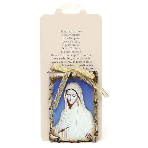 STOCK Small magnet wooden board 9,5x6,8 Medjugorje 2