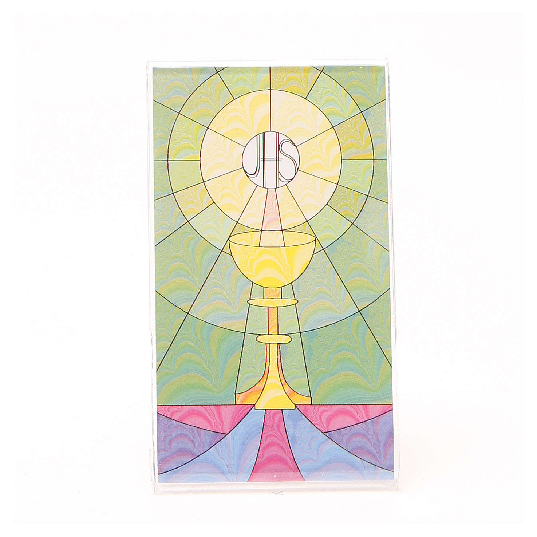 Cuadro con Base Pléxiglass de Mesa con Cáliz 12 x 7 cm 3