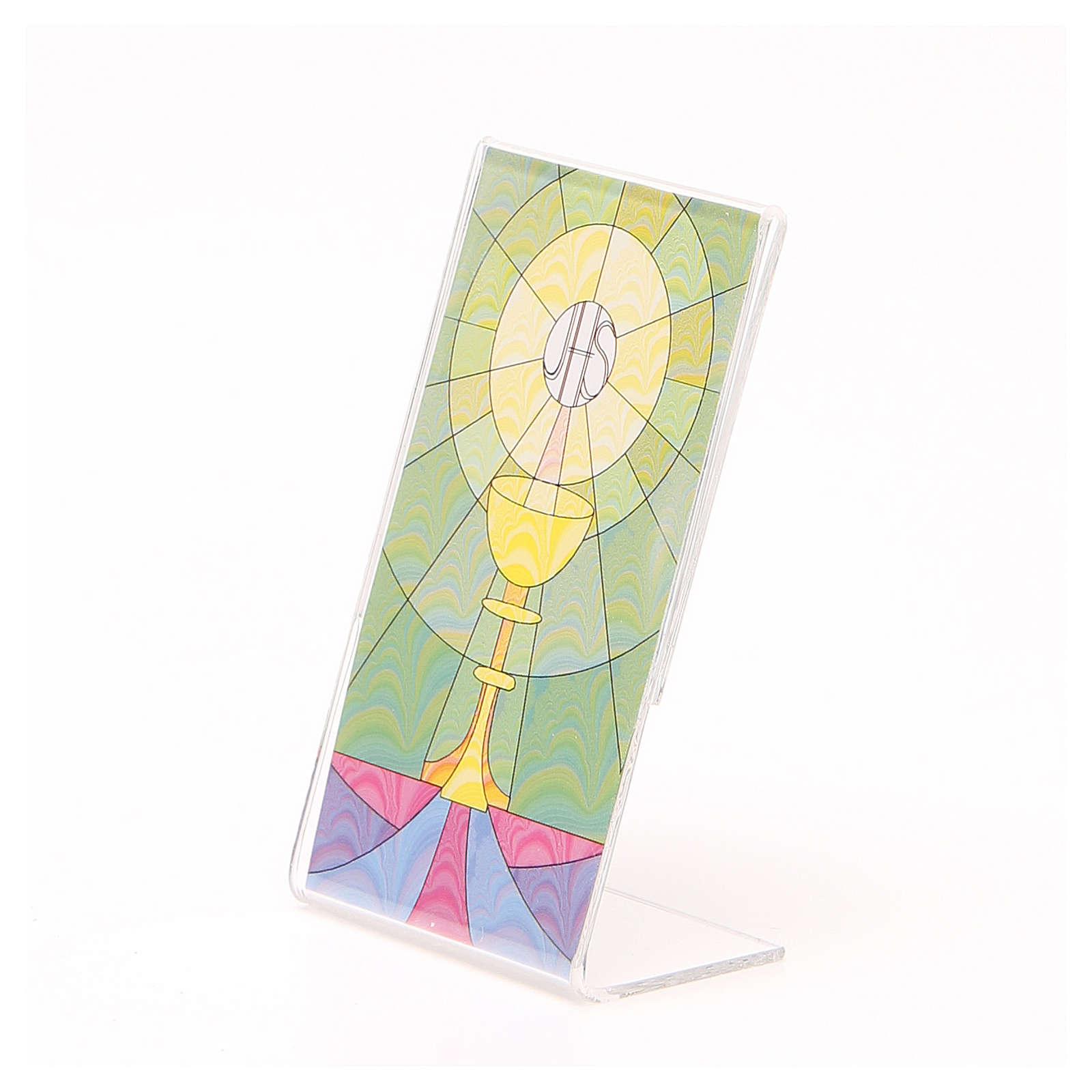 STOCK Base plexiglass da appoggio con calice 12x7 cm 3