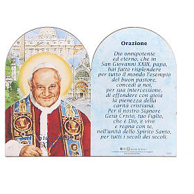 STOCK Little painting Pope John XXIII 8,9x11,5cm with support s1