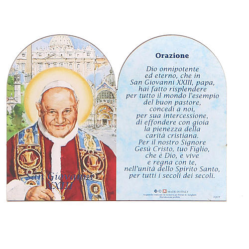 STOCK Little painting Pope John XXIII 8,9x11,5cm with support 1