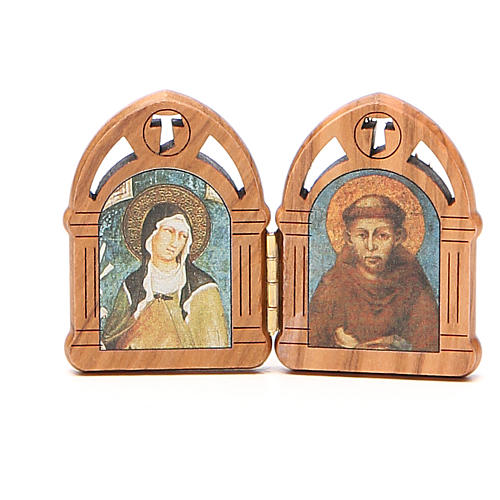 STOCK Diptych St. Clare & St. Francis of Assisi 5,5x8cm 1