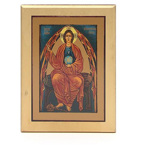 STOCK Tavola legno Cristo bordo dorato cm 17x14 cm 1