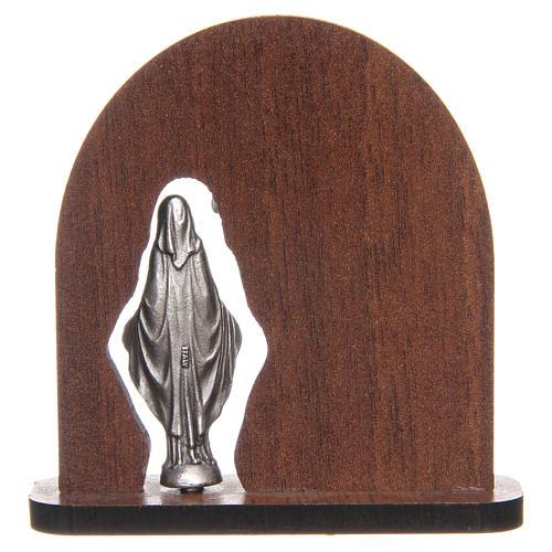 STOCK Bloque con madera de arco Virgen Milagrosa cm 7 2