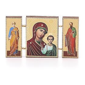 Trittico russo legno applicazione Kazanskaya 9,5x5,5 s1
