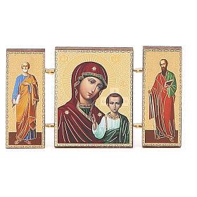 Trittico russo legno applicazione Kazanskaya 9,5x5,5 s4