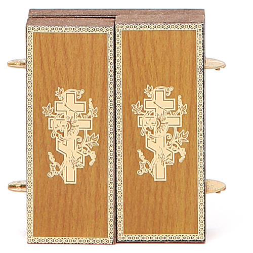 Trittico russo legno applicazione Kazanskaya 9,5x5,5 6