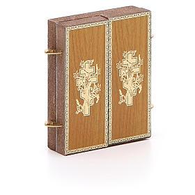 Trittico russo legno applicazione Giglio Bianco 9,5x5,5 s3