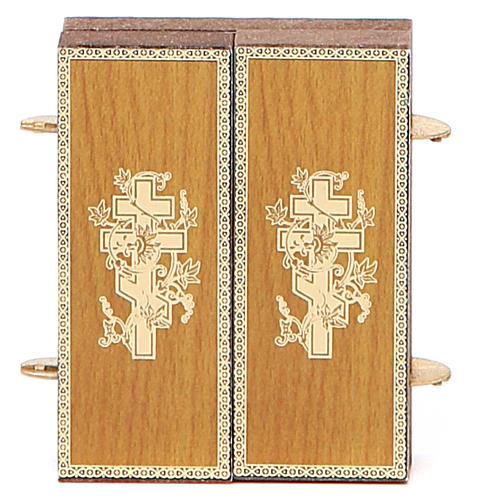 Trittico russo legno applicazione Giglio Bianco 9,5x5,5 6