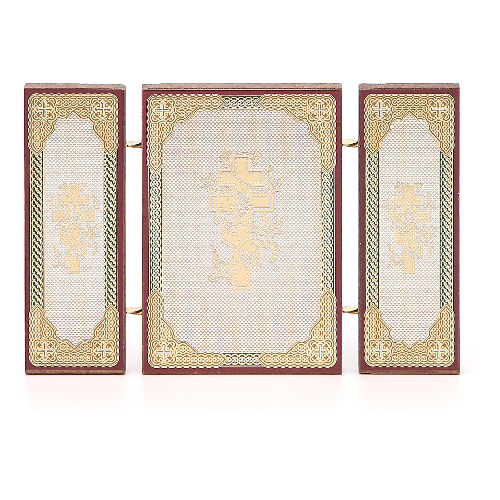 Triptych Russia Holy Family application 13x8cm 3