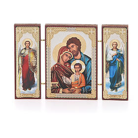 Triptych Russia Holy Family application 13x8cm s1