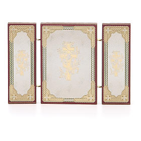 Triptych Russia Holy Family application 13x8cm s2