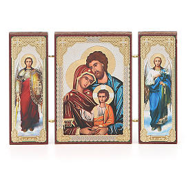 Triptych Russia Holy Family application 13x8cm s4