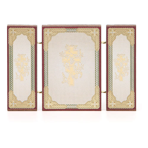Triptych Russia Holy Family application 13x8cm 5