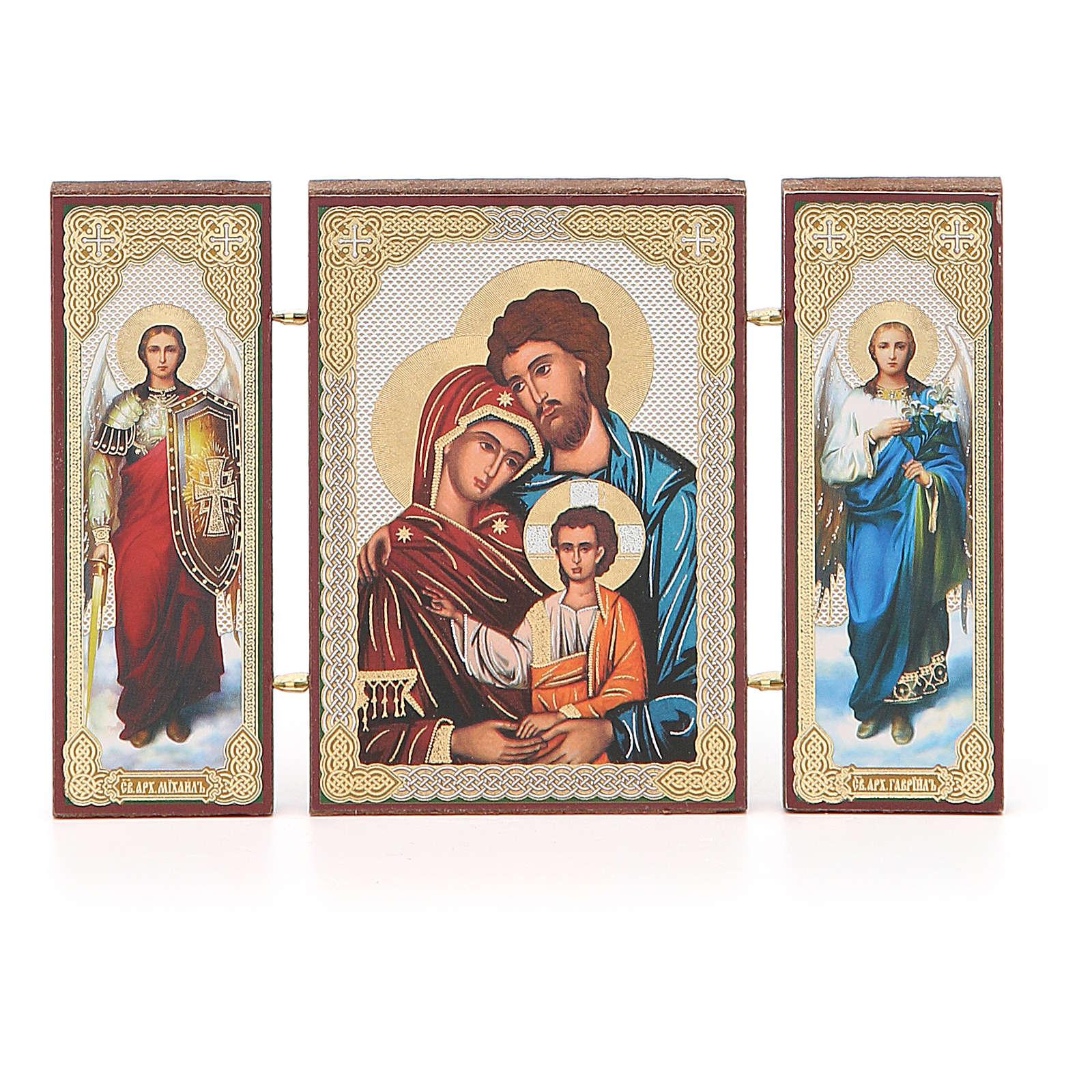 Triptyque russe application Sainte Famille 13x8 cm 3