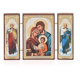 Triptyque russe application Sainte Famille 13x8 cm s4