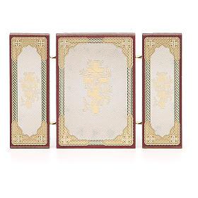 Triptyque russe application Sainte Famille 13x8 cm s5