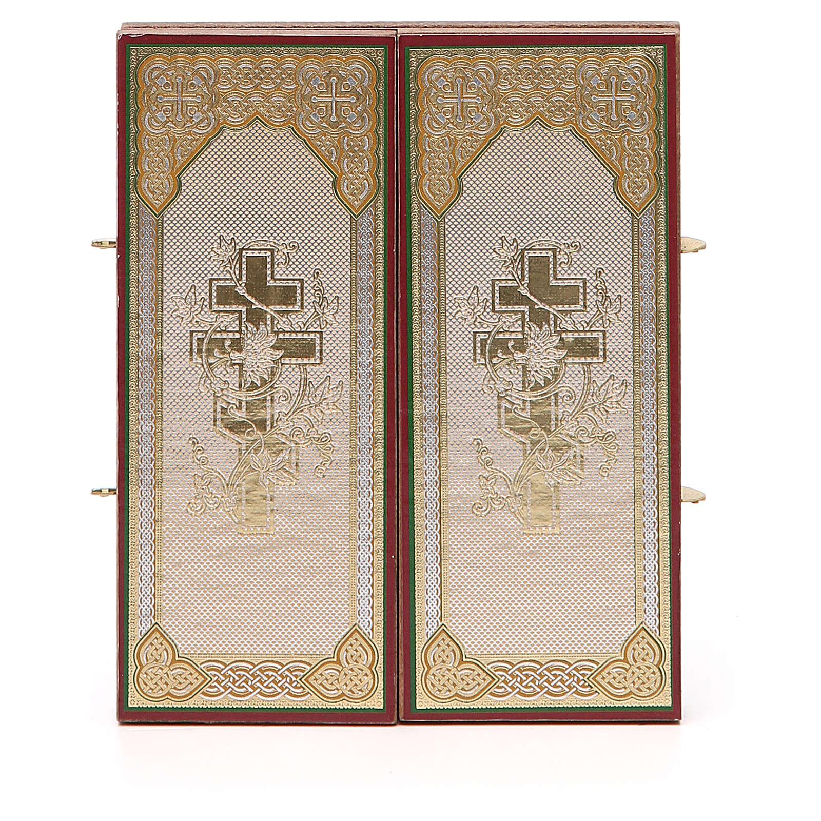 Tríptico Rusia madera Zhirovitskaya 21x12 cm 3