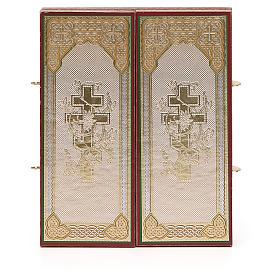 Tríptico Rusia madera Zhirovitskaya 21x12 cm s6
