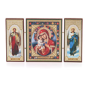 Triptych Russia wood Zhirovitskaya 21x12cm s1