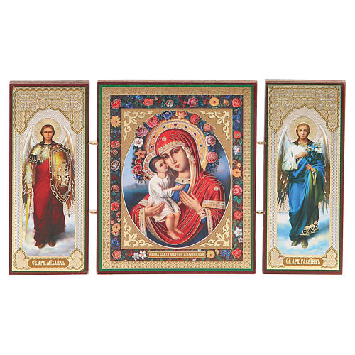 Triptych Russia wood Zhirovitskaya 21x12cm 4