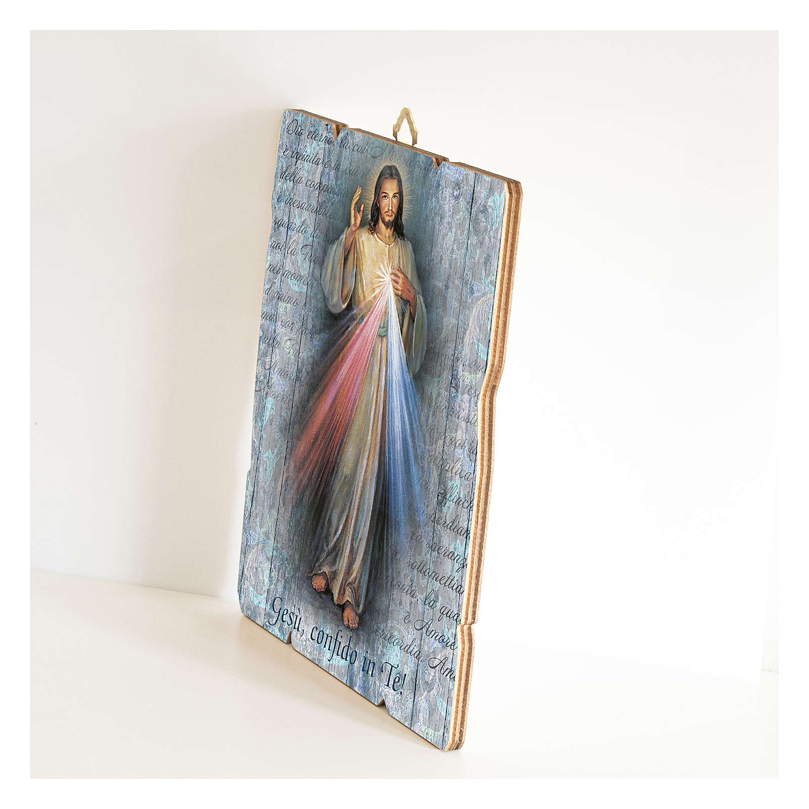 Jesus the Compassionate painting in moulded wood 3