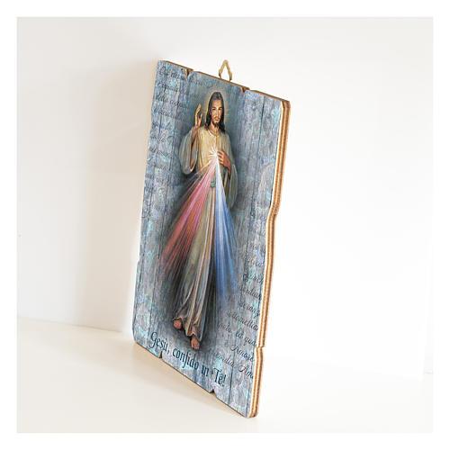 Cuadro de Madera Perfilada Jesús Misericordioso 2