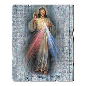 Tableau en bois profilé Christ Miséricordieux s1