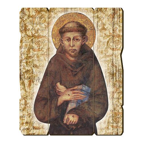 Quadro in Legno Sagomato San Francesco di Assisi 1