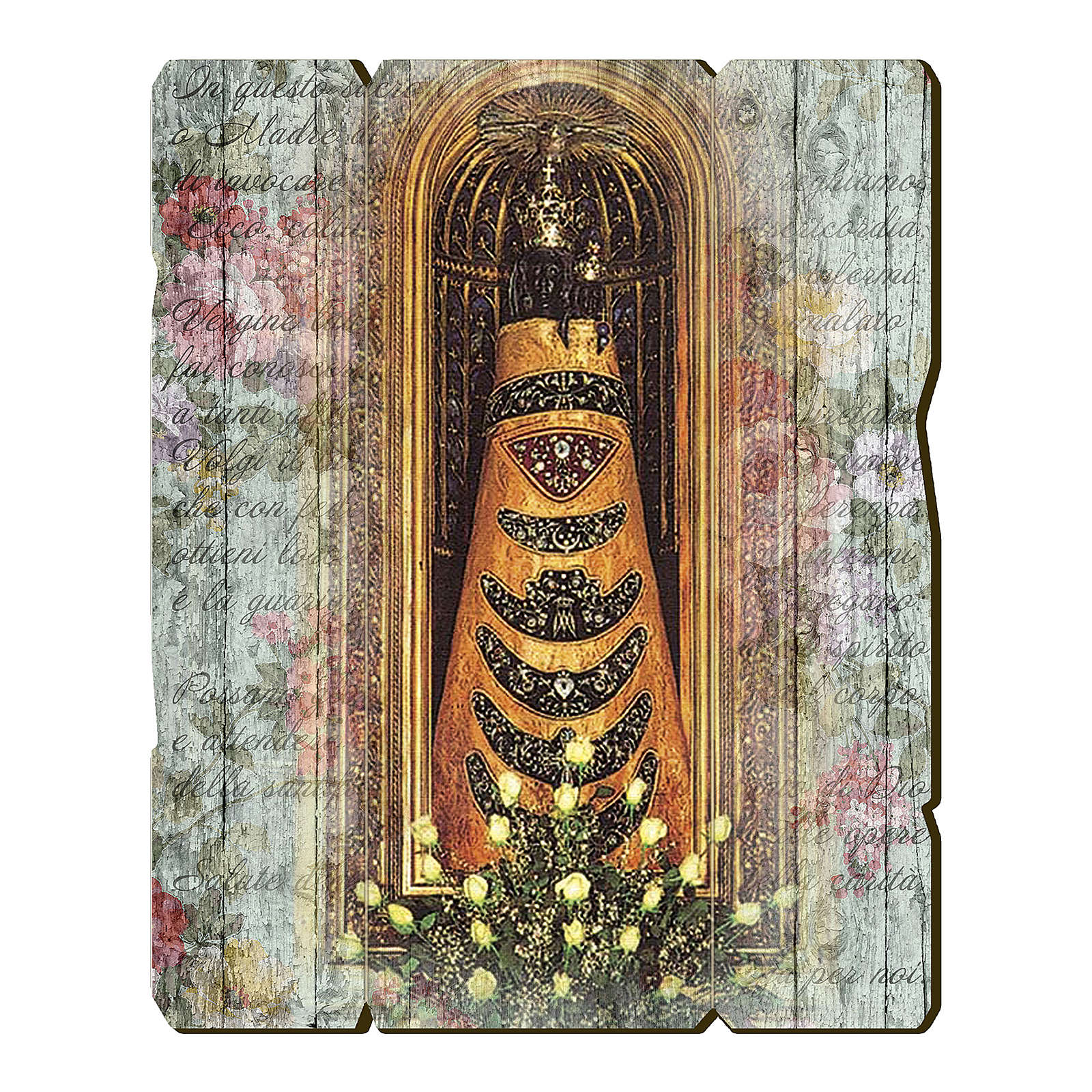 Our Lady of Loreto painting in moulded wood 3
