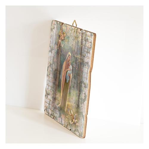 Quadro legno sagomato gancio retro Madonna del Bosco 2
