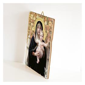 Quadro legno sagomato gancio retro Vergine del Giglio s2
