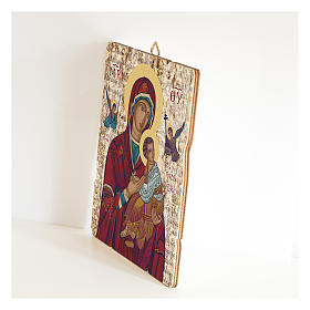 Our Lady of Perpetual Help painting in moulded wood with hook on the back s2