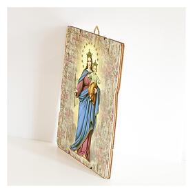 Bild aus Holz retro Maria, Hilfe der Christen s2